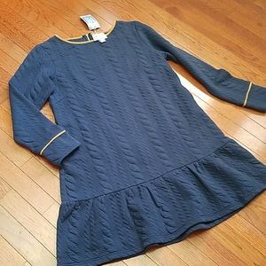 Sail to Sable Dress Large Navy Gold Trim NEW